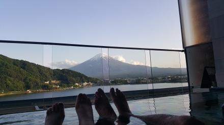 Mount Fuji feet